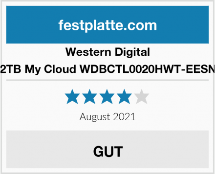 Western Digital 2TB My Cloud WDBCTL0020HWT-EESN Test