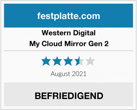 Western Digital My Cloud Mirror Gen 2 Test