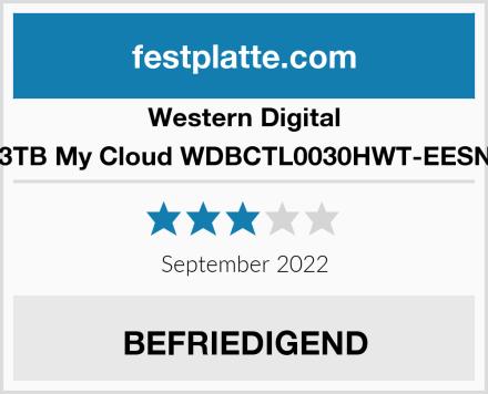 Western Digital 3TB My Cloud WDBCTL0030HWT-EESN Test