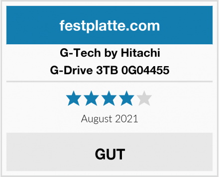 G-Tech by Hitachi G-Drive 3TB 0G04455 Test