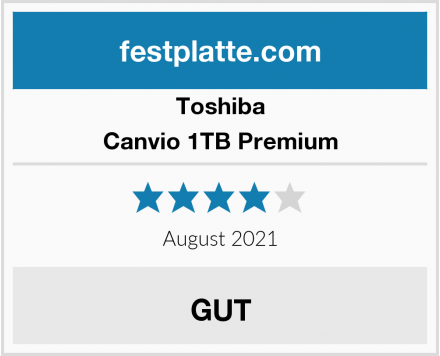 Toshiba Canvio 1TB Premium Test