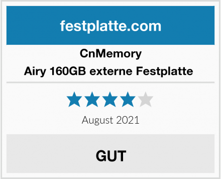 CnMemory Airy 160GB externe Festplatte  Test