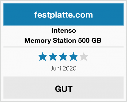 Intenso Memory Station 500 GB  Test