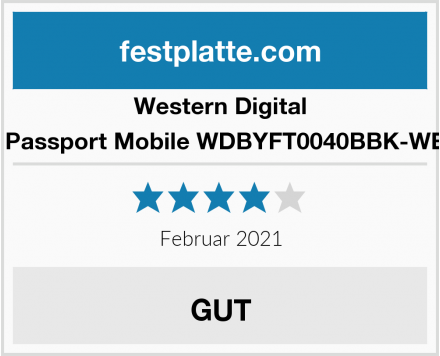 Western Digital My Passport Mobile WDBYFT0040BBK-WESN Test