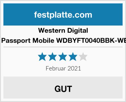 Western Digital My Passport Mobile WDBYFT0040BBK-WESN Test