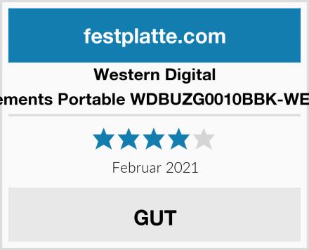 Western Digital Elements Portable WDBUZG0010BBK-WESN Test