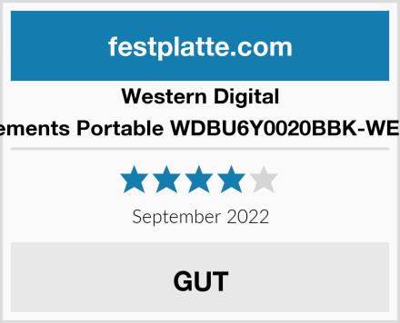 Western Digital Elements Portable WDBU6Y0020BBK-WESN Test