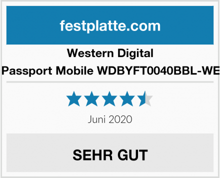 Western Digital My Passport Mobile WDBYFT0040BBL-WESN  Test