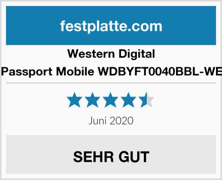 Western Digital My Passport Mobile WDBYFT0040BBL-WESN  Test