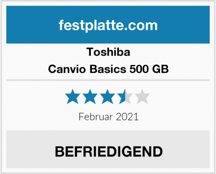 Toshiba Canvio Basics 500 GB Test