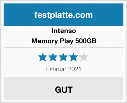 Intenso Memory Play 500GB Test