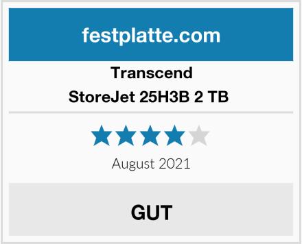Transcend StoreJet 25H3B 2 TB  Test