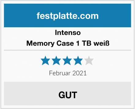 Intenso Memory Case 1 TB weiß Test