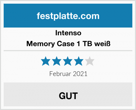 Intenso Memory Case 1 TB weiß Test