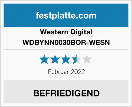 Western Digital WDBYNN0030BOR-WESN Test