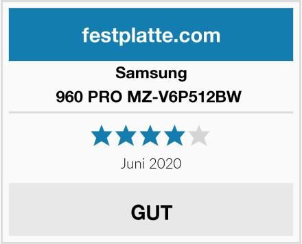 Samsung 960 PRO MZ-V6P512BW  Test