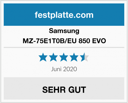 Samsung MZ-75E1T0B/EU 850 EVO Test