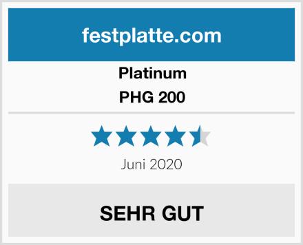 Platinum PHG 200 Test