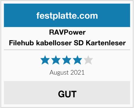 RAVPower Filehub kabelloser SD Kartenleser Test