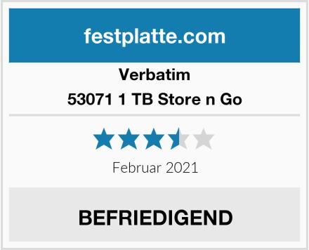 Verbatim 53071 1 TB Store n Go Test