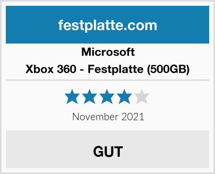 Microsoft Xbox 360 - Festplatte (500GB) Test