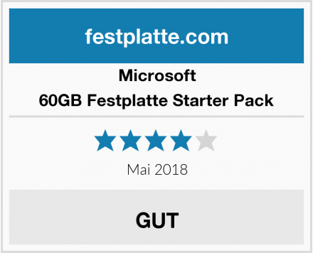 Microsoft 60GB Festplatte Starter Pack Test