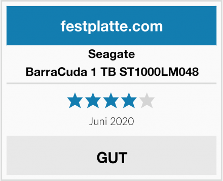 Seagate BarraCuda 1 TB ST1000LM048 Test