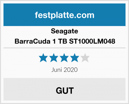 Seagate BarraCuda 1 TB ST1000LM048 Test