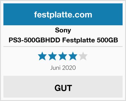 Sony PS3-500GBHDD Festplatte 500GB Test