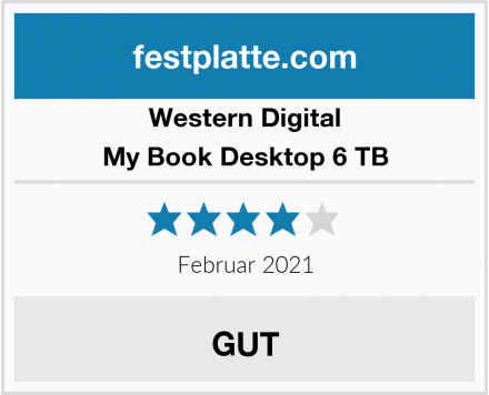 Western Digital My Book Desktop 6 TB Test