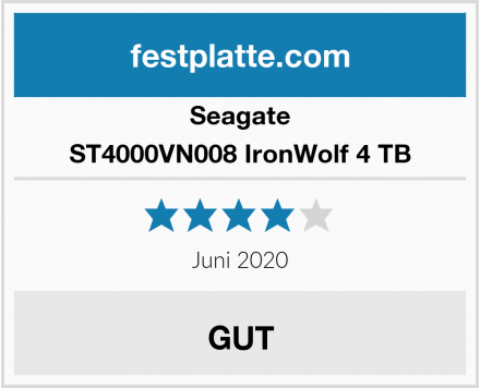 Seagate ST4000VN008 IronWolf 4 TB Test