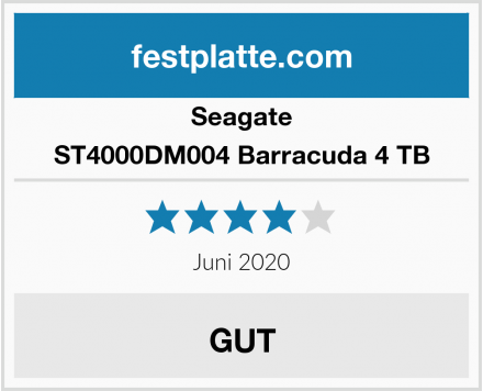 Seagate ST4000DM004 Barracuda 4 TB Test