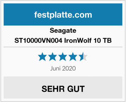 Seagate ST10000VN004 IronWolf 10 TB Test