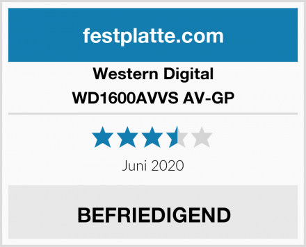 Western Digital WD1600AVVS AV-GP Test