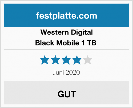 Western Digital Black Mobile 1 TB  Test