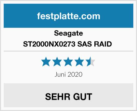 Seagate ST2000NX0273 SAS RAID  Test