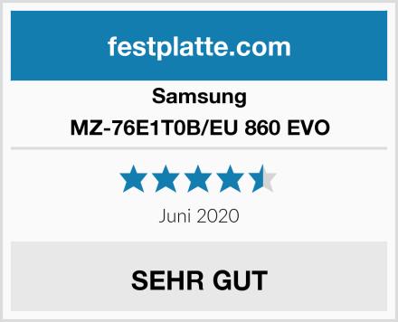 Samsung MZ-76E1T0B/EU 860 EVO Test