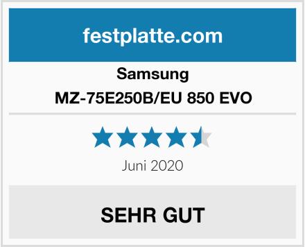 Samsung MZ-75E250B/EU 850 EVO Test
