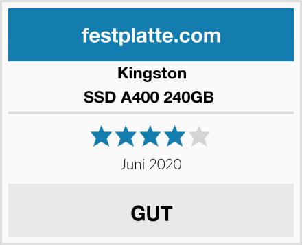 Kingston SSD A400 240GB  Test