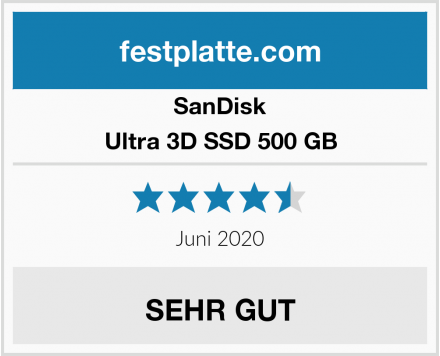 SanDisk Ultra 3D SSD 500 GB Test