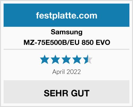 Samsung MZ-75E500B/EU 850 EVO Test