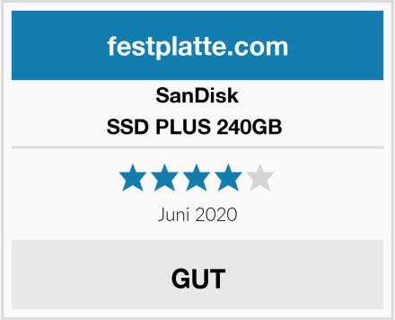 SanDisk SSD PLUS 240GB  Test