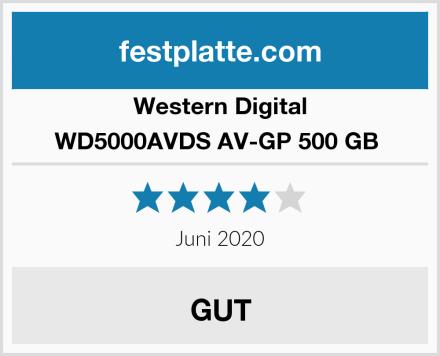 Western Digital WD5000AVDS AV-GP 500 GB  Test