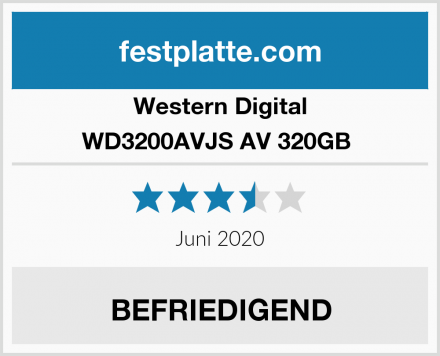 Western Digital WD3200AVJS AV 320GB  Test
