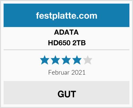 ADATA HD650 2TB Test