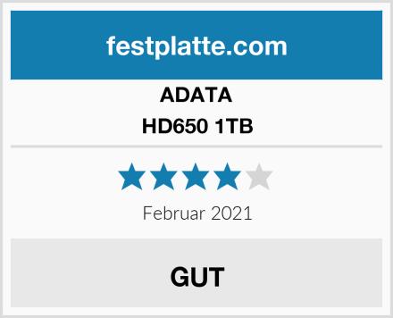 ADATA HD650 1TB Test