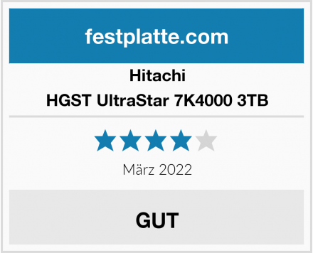 Hitachi HGST UltraStar 7K4000 3TB Test
