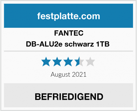 FANTEC DB-ALU2e schwarz 1TB  Test