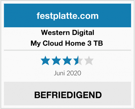 Western Digital My Cloud Home 3 TB  Test