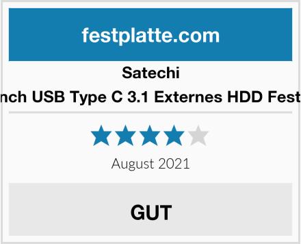 Satechi Aluminium 2.5-inch USB Type C 3.1 Externes HDD Festplattengehäuse Test